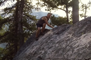 Jim Free Climbing Sierra Wilderness
